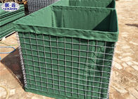 Collapsable Military Hesco Barriers HDP Galvanized Welded Geotextile Lined